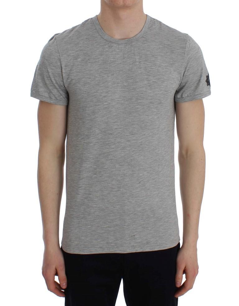 Ermanno Scervino Men's Crew-Neck Underwear T-Shirt Grey SIG30668 - IT48   M