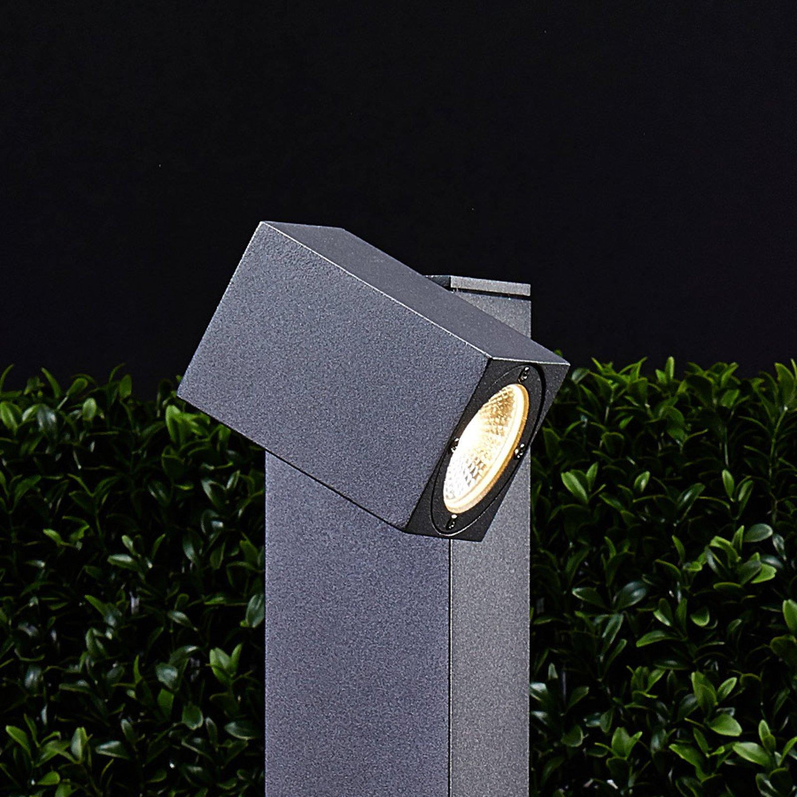 Lorik LED-gatelampe med justerbart hode