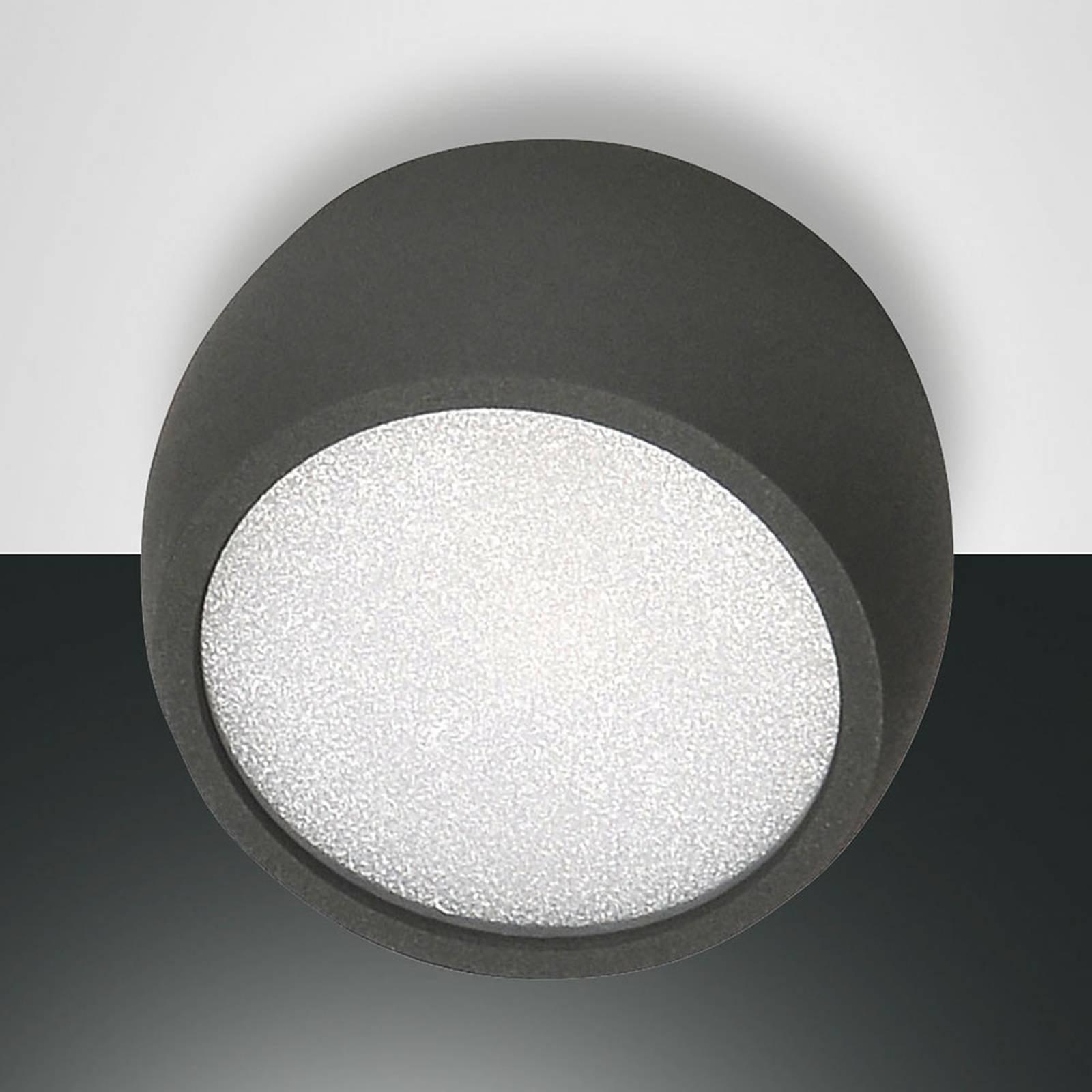 Rund LED-downlight Vasto, antrasitt