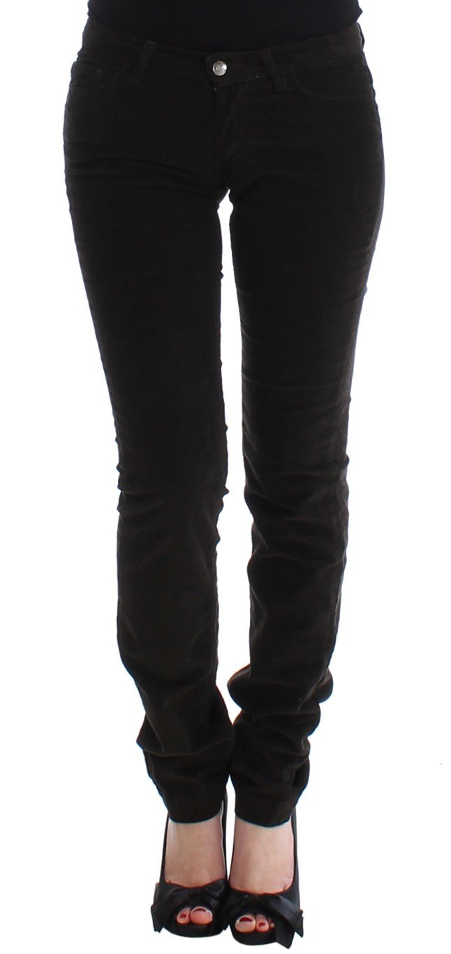 Dolce & Gabbana Women's CUTE Corduroy Slim Casual Trouser Brown SIG13237 - IT38|XS