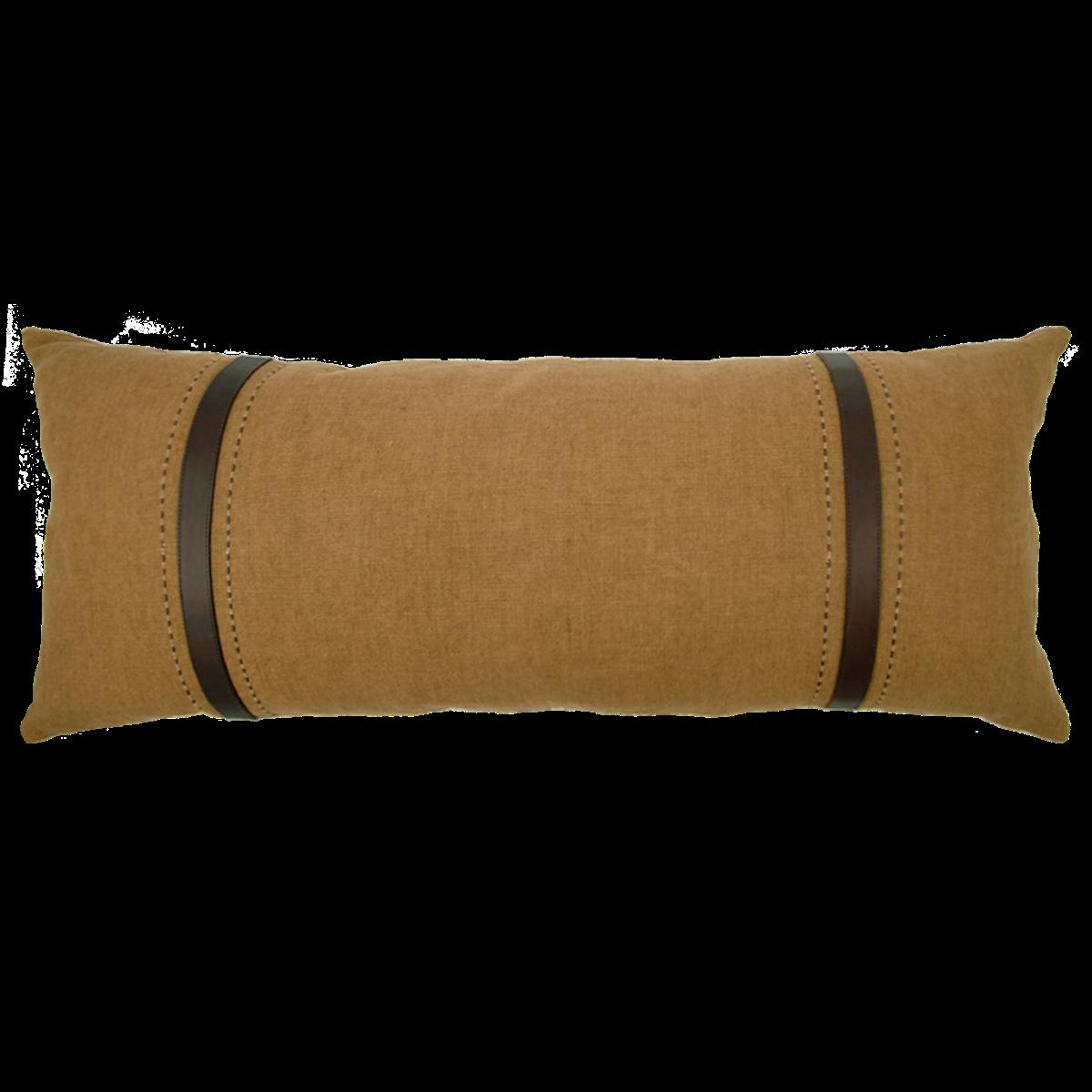 de Le Cuona | Bracken Sofa Cushion With Leather Straps Clay