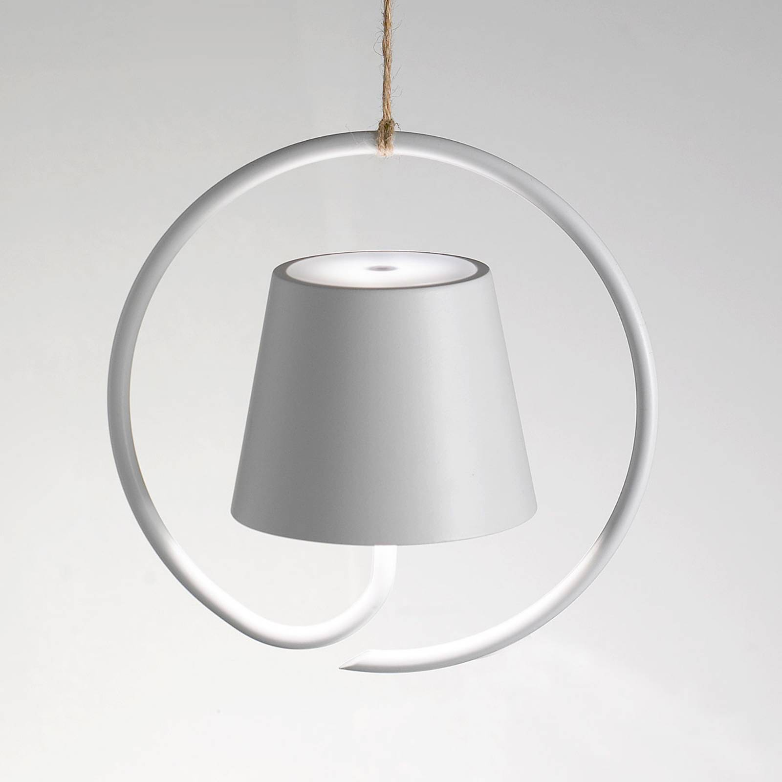Poldina-LED-riippuvalo, akkukäyttöinen, valkoinen