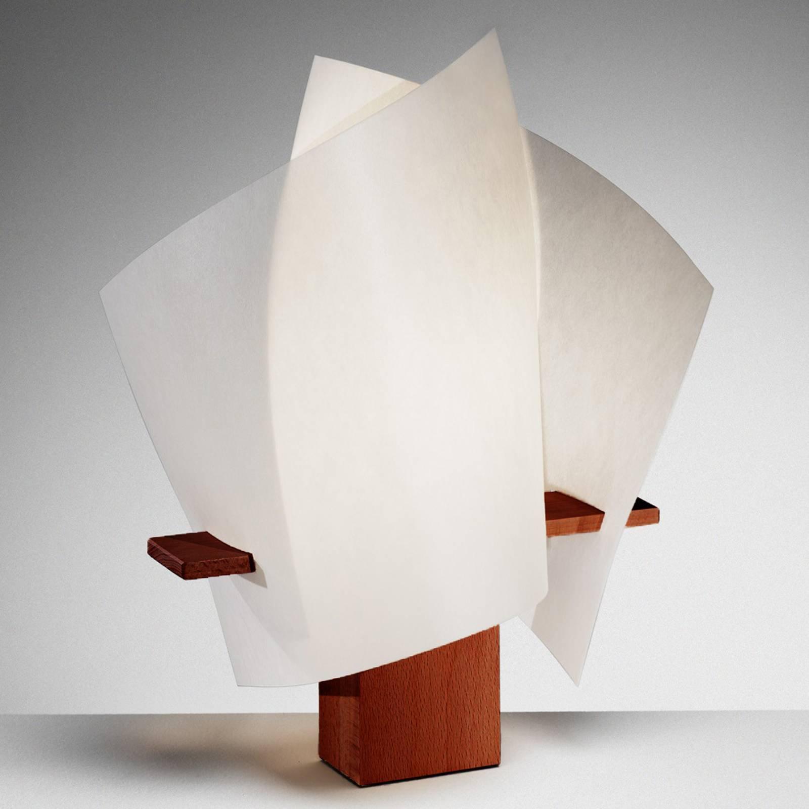 Designerbordlampe PLAN B, maron