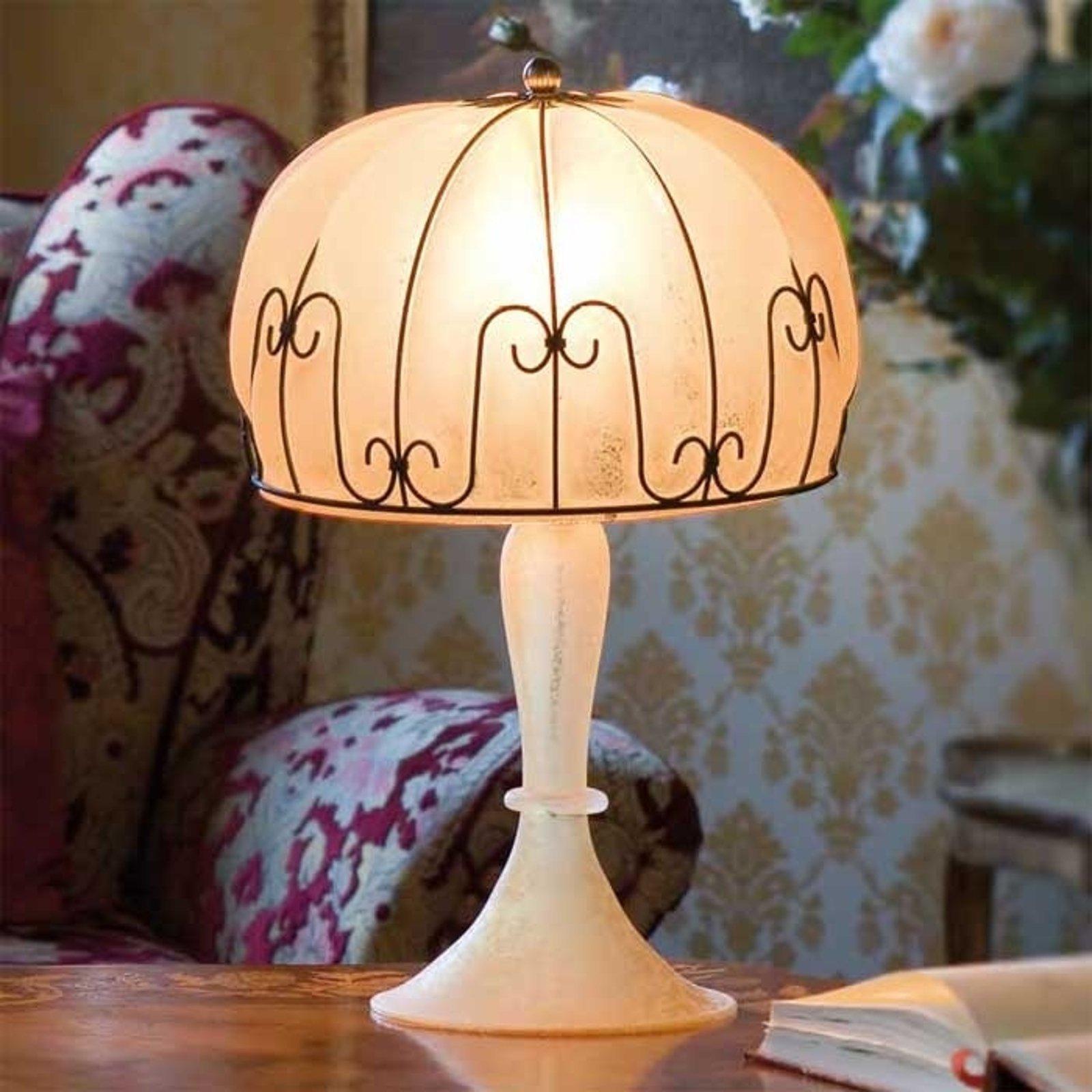 Håndlaget bordlampe MEDUSA