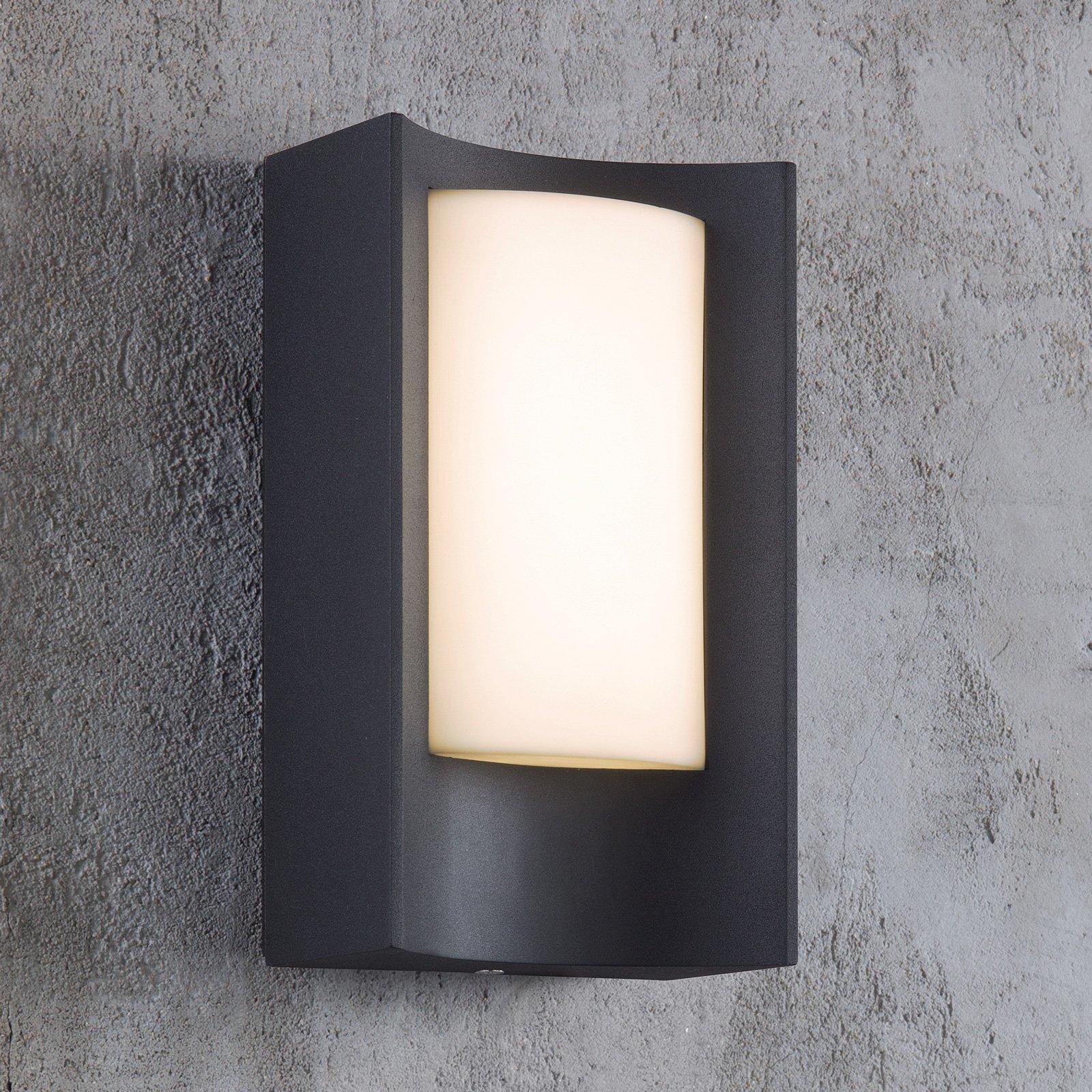 Utendørs LED-vegglampe Aspen i svart-hvitt