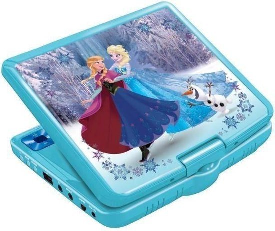 "Lexibook - Disney Frozen Portable DVD Player 7"" rotative screen with USB port and earphones (DVDP6FZ)"