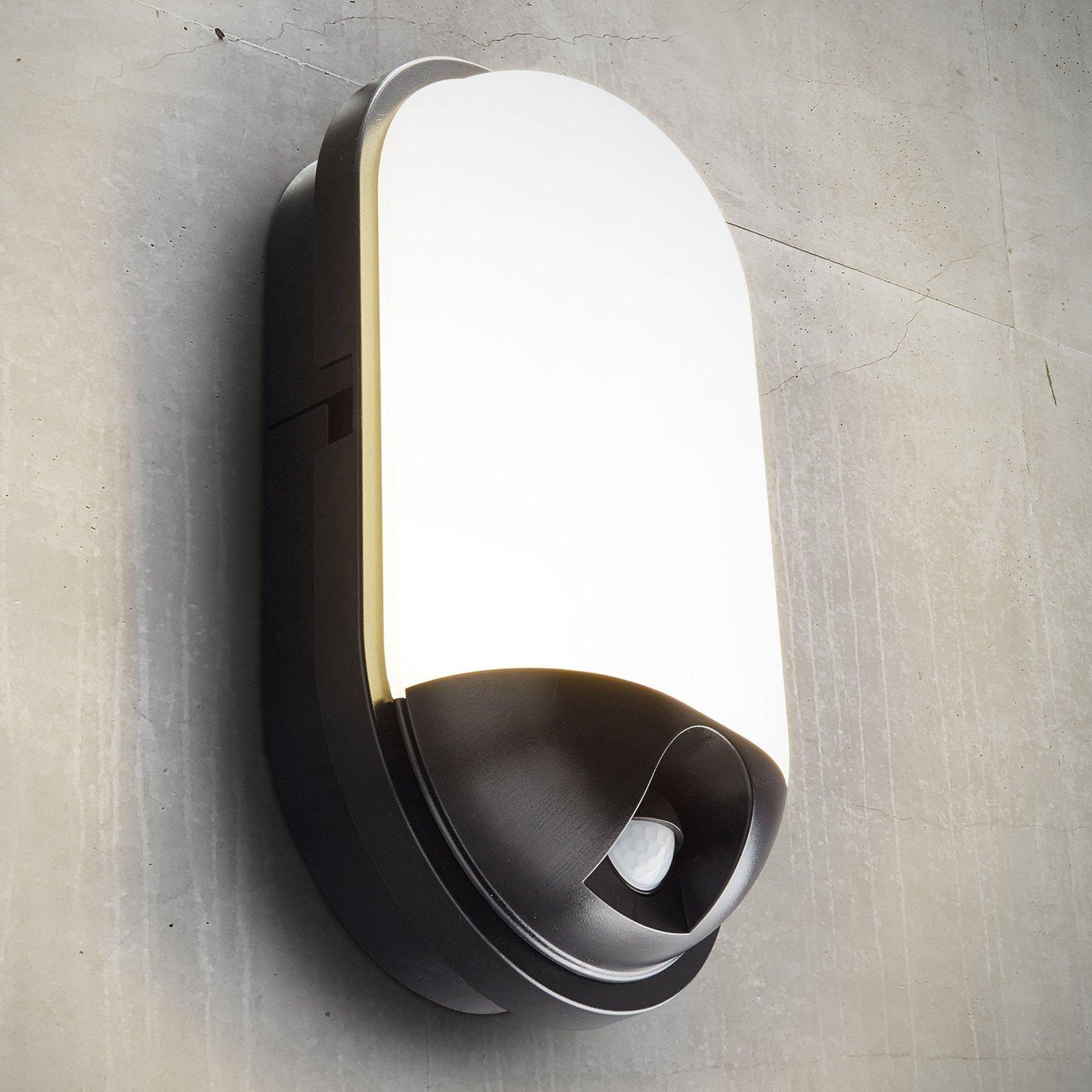 Utendørs LED-vegglampe Toledo med begevelsessensor