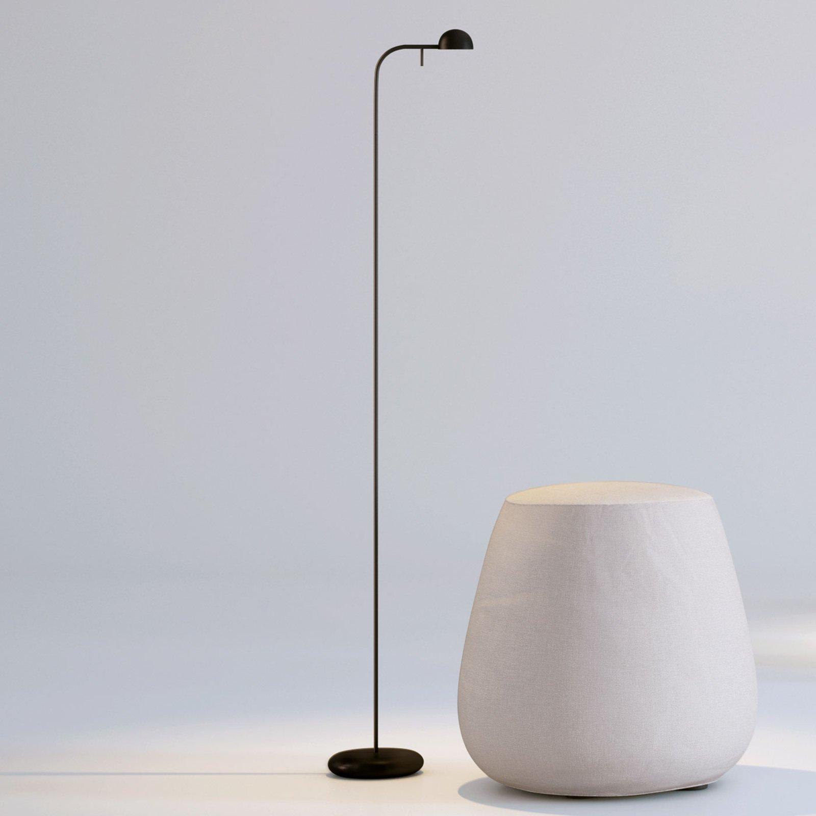 Vibia Pin 1660 LED-gulvlampe, 125 cm, svart