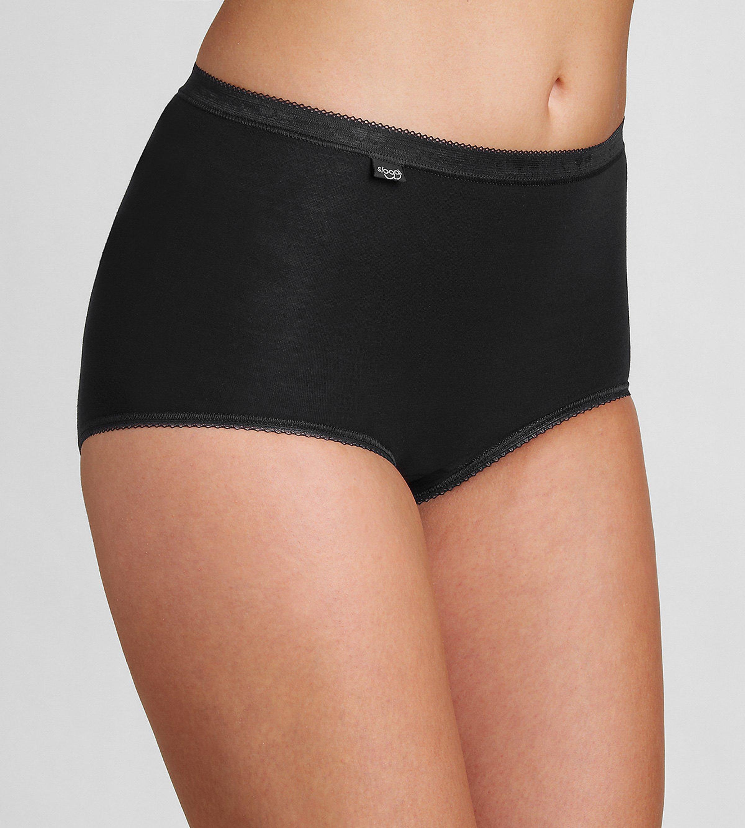 Sloggi Women's Basic + Maxi 4 Pack Underwear Various Colours - 10 Black