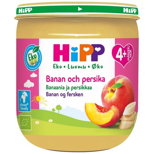 Luomu Hedelmäsose Banaani & Persikka - 9% alennus