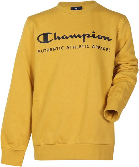 Champion Kids Crewneck Genser, Lemon Curry XS