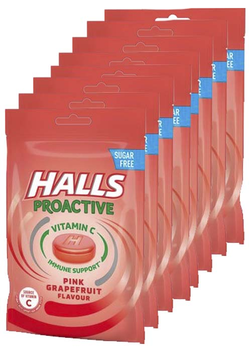 Halls Proactive Pink Grape 65g x 8 st