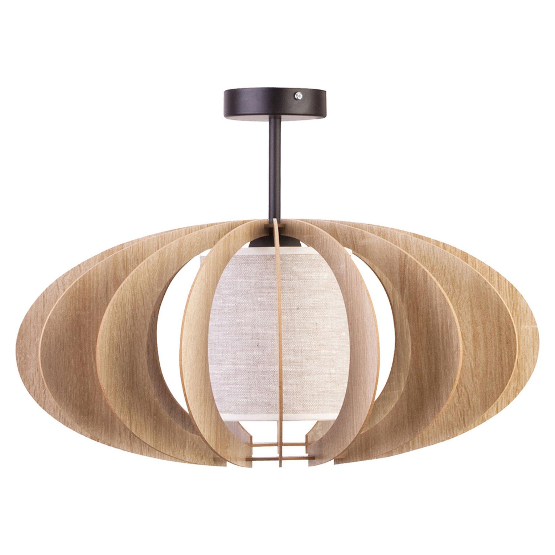 Taklampe Modern A med trelameller, Ø 60 cm