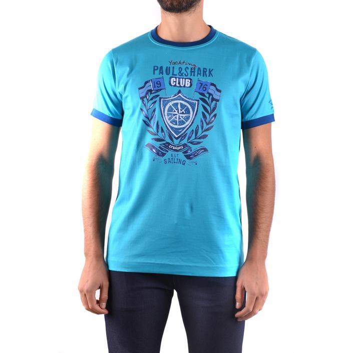 Paul&shark Men's T-Shirt Blue 161623 - blue L