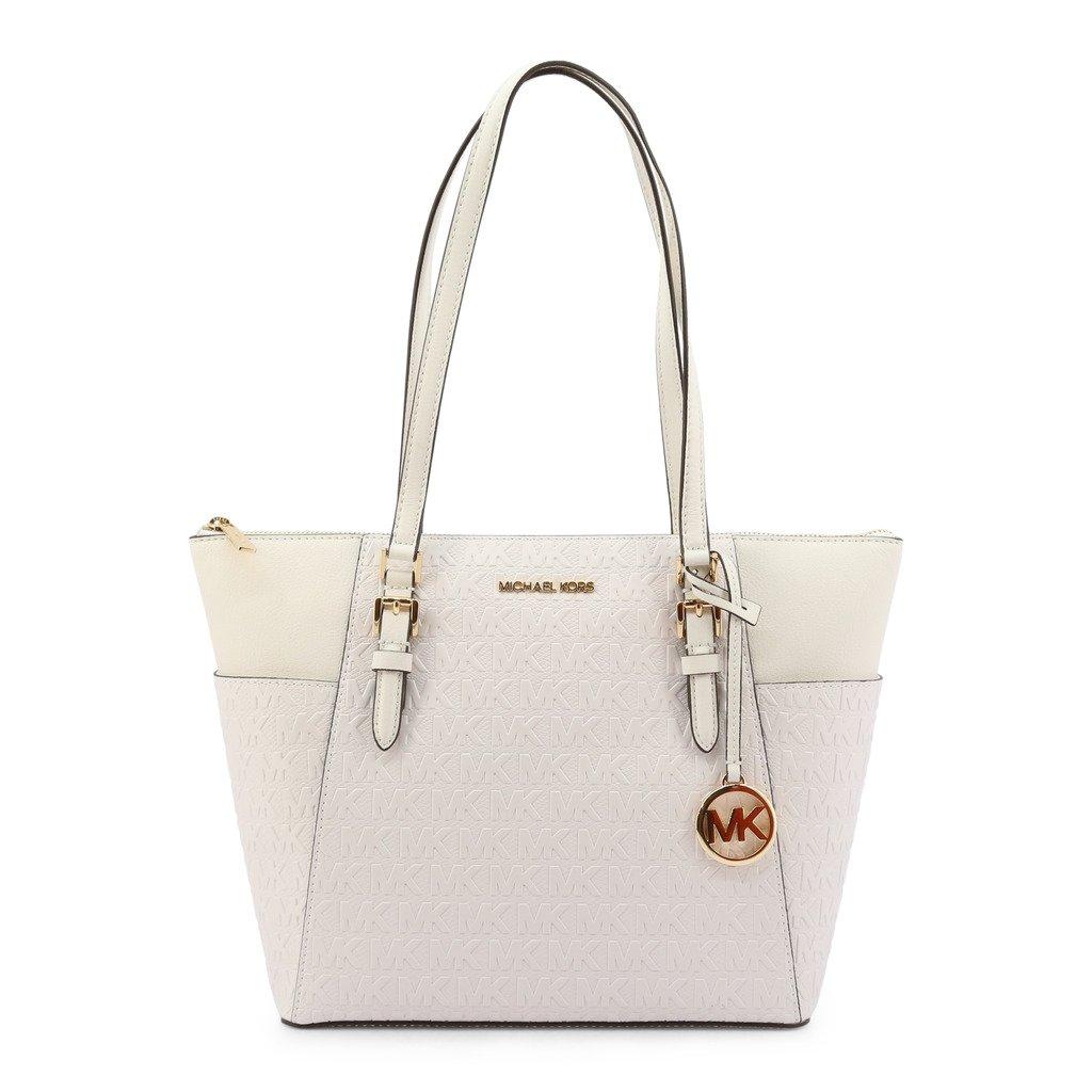 Michael Kors Women's Charlotte Shopping Bag White 346996 - white NOSIZE