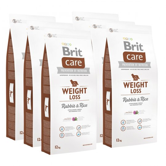 Brit Care Dog Adult Weight Loss Rabbit & Rice 6x12 kg