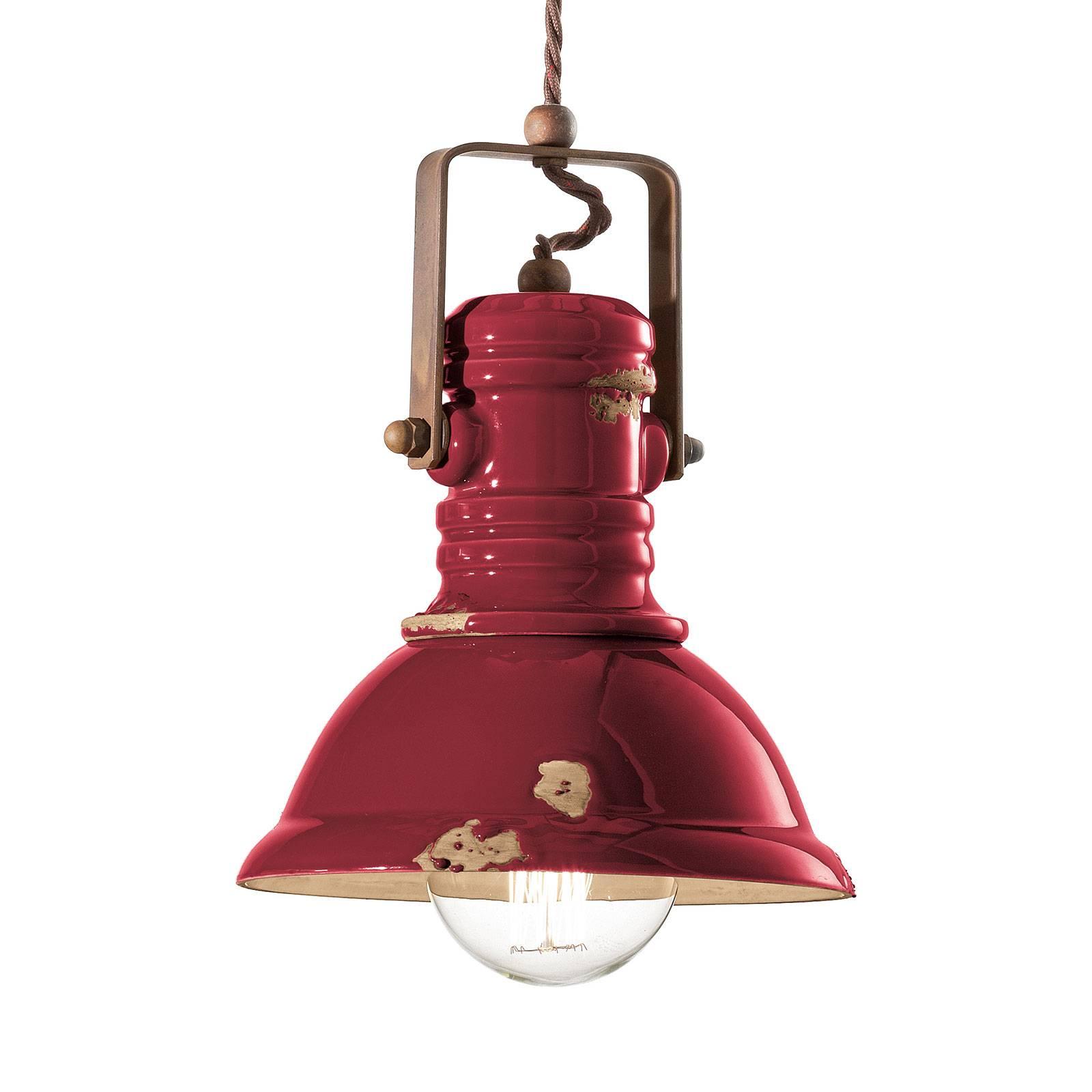 Riippuvalo C1691 industriaalista tyyliä, punainen