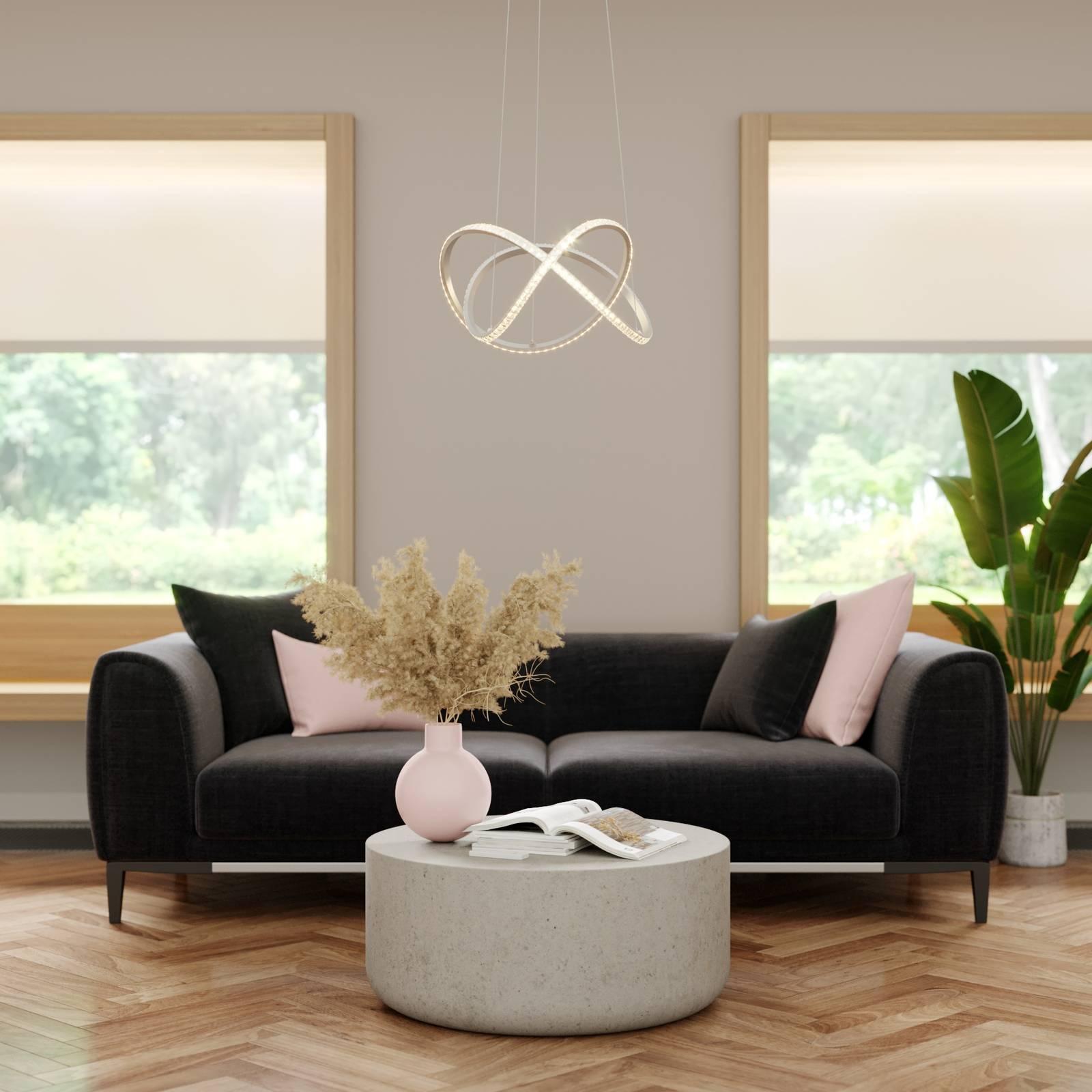 Lindby Criostal -LED-riippuvalo, kaukosäädin