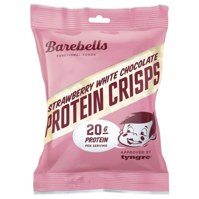 """Proteinkrisp """"Strawberry White Chocolate"""" 77g - 50% rabatt"""