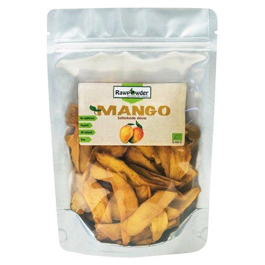 Rawpowder Ekologiska Mangobitar, 300 g