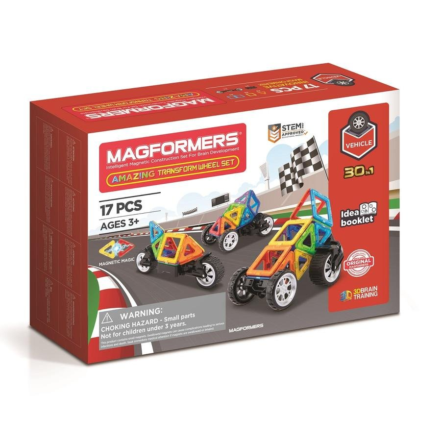 Magformers - Amazing Transform Vehicle set, 17 pc (3068)