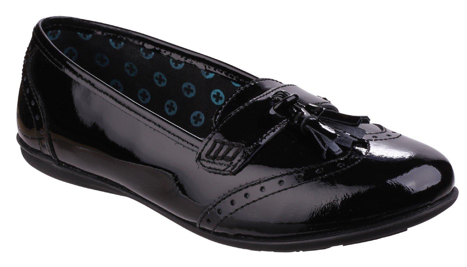 Hush Puppies Women's Esme School Shoe Black 25334 - Black 13.5 UK