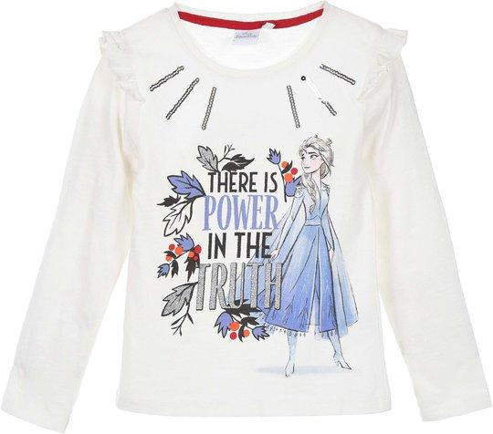 Disney Frozen Langermet T-Shirt, Off White, 8 År