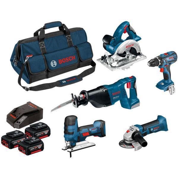 Bosch 0615990K6N Verktøypakke med koffert, 4,0 Ah batterier og lader
