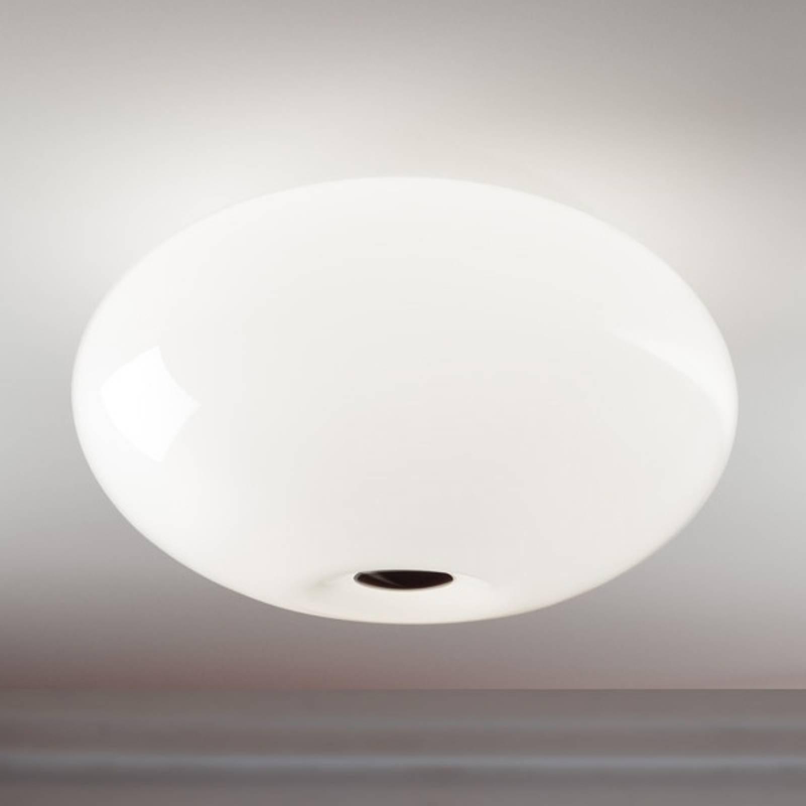 Kaunis AIH-kattovalaisin 38 cm, kiiltävänvalkoinen