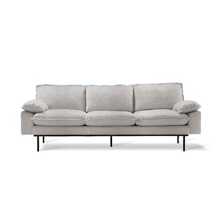Retro Sofa 3-seter sneak Light Grey
