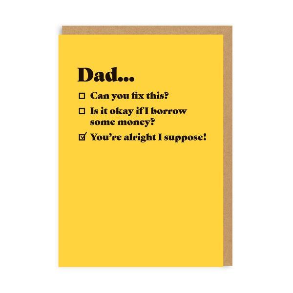 Dad Tick Box Greeting Card