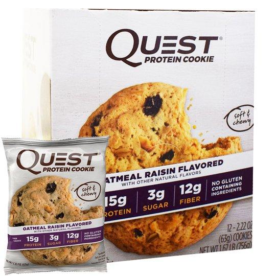 "Hel Låda Proteinkakor ""Oatmeal & Raisin"" 12 x 63g - 50% rabatt"