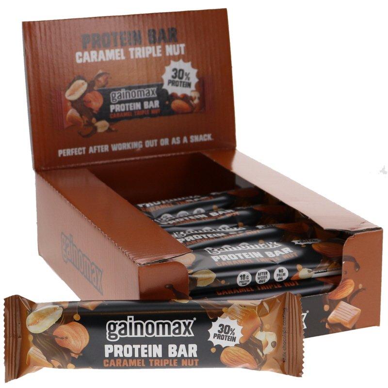 Proteiinipatukat Karamelli &Pähkinä 15kpl - 32% alennus