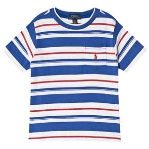 Ralph Lauren Stripe Pocket T-shirt Blå 18 år