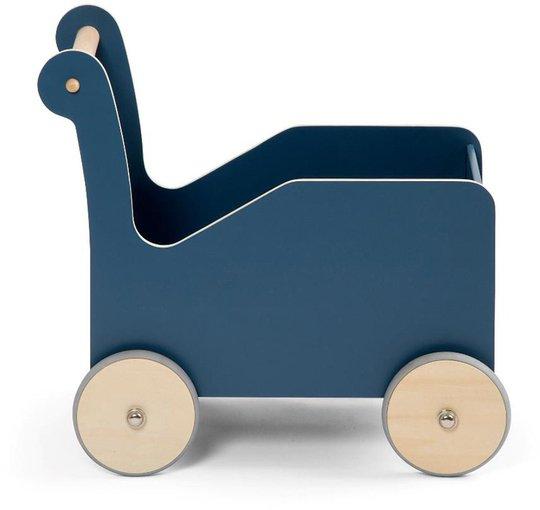 Sebra Dukkevogn i Tre, Blå