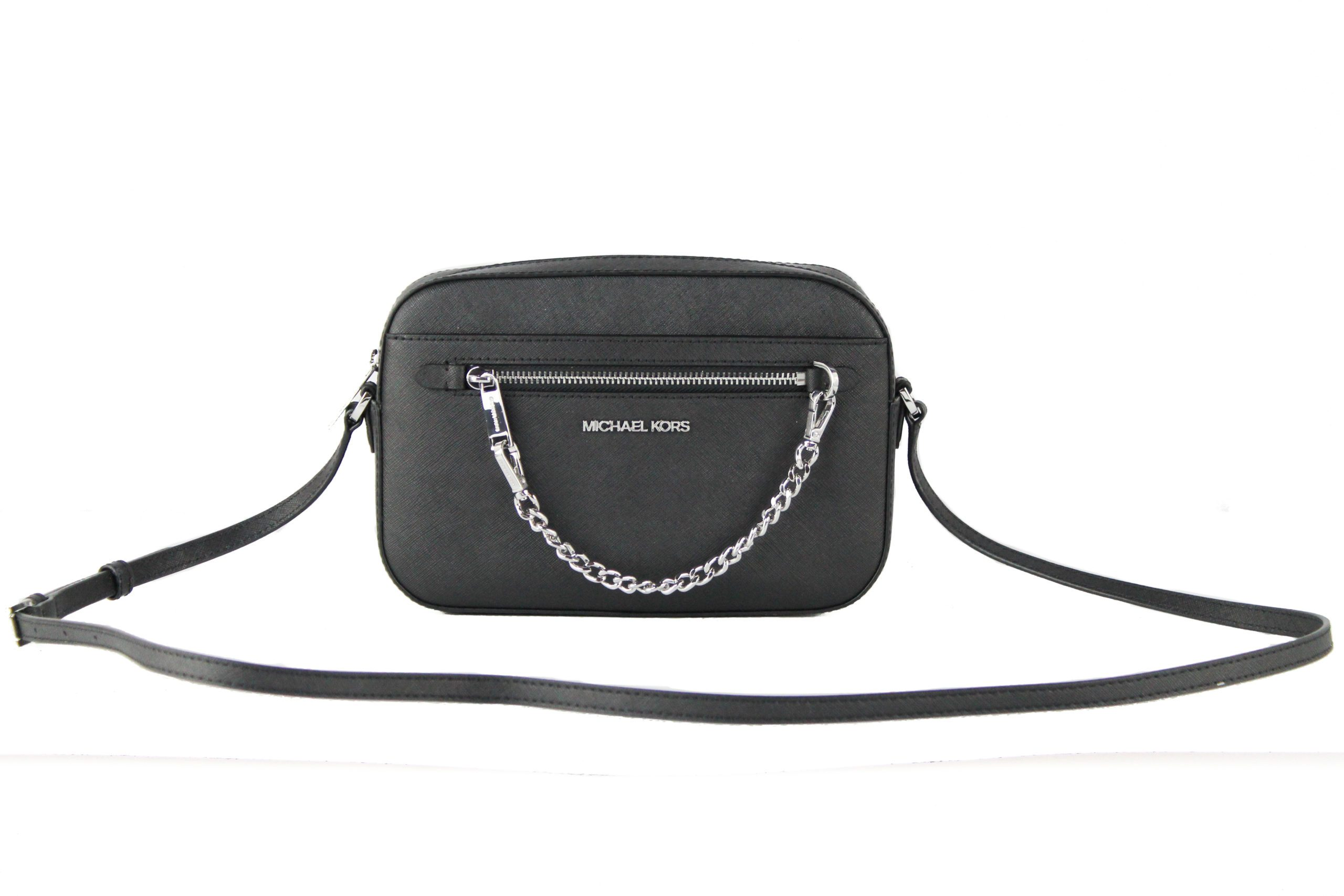 Michael Kors Women's Jet Set Crossbody Bag Black 13019