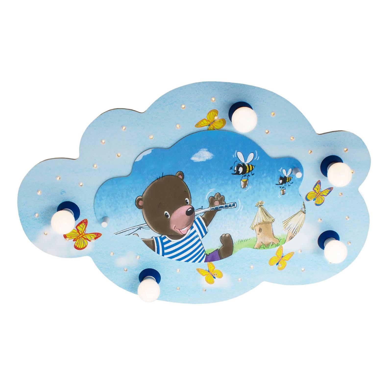 Kattovalaisin Karhu ja onki, pilvi, sininen