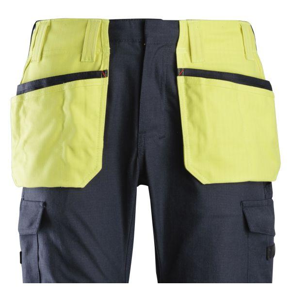 Snickers 9793 ProtecWork Riipputaskut kiinnitetään ompelemalla Huomioriipputasku, keltainen