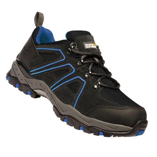 Regatta Men's Pro Downburst Low-Rise Safety Trainer Multicolor T_TRK125 - Black/Blue Trim UK-11