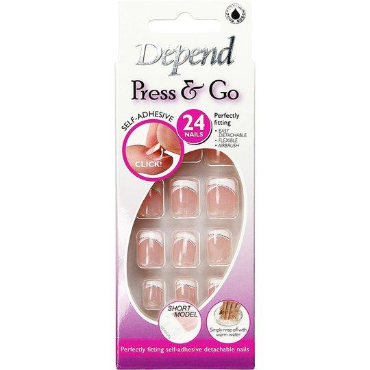 Depend Press & Go Adhesive Fake Nails 6320 - Lyhyt Malli, Depend Irtokynnet