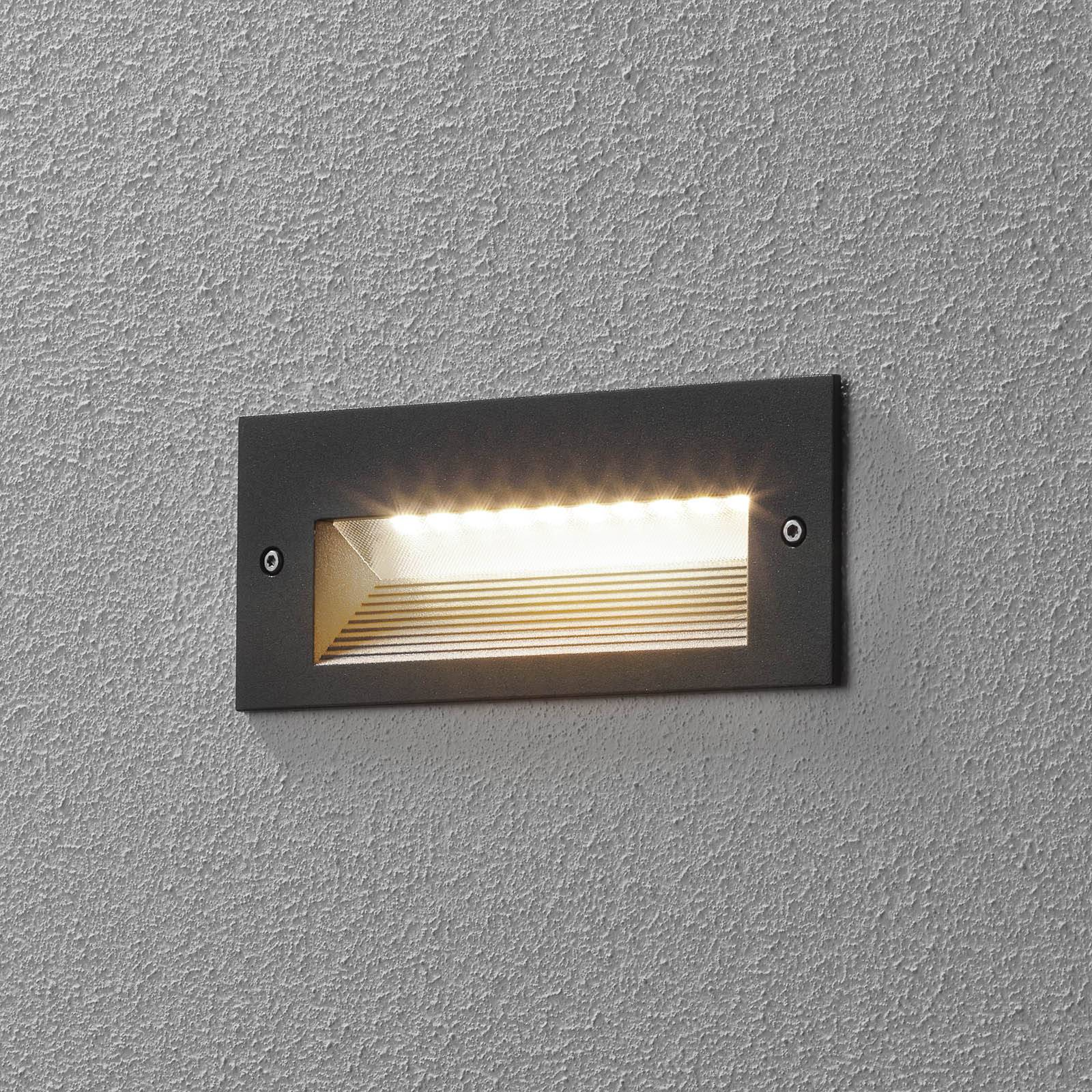 BEGA 33053 LED-seinäuppovalo 3000K grafiitti 17 cm