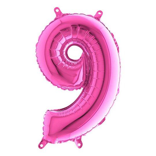 Sifferballong Mini Rosa Metallic - Siffra 9