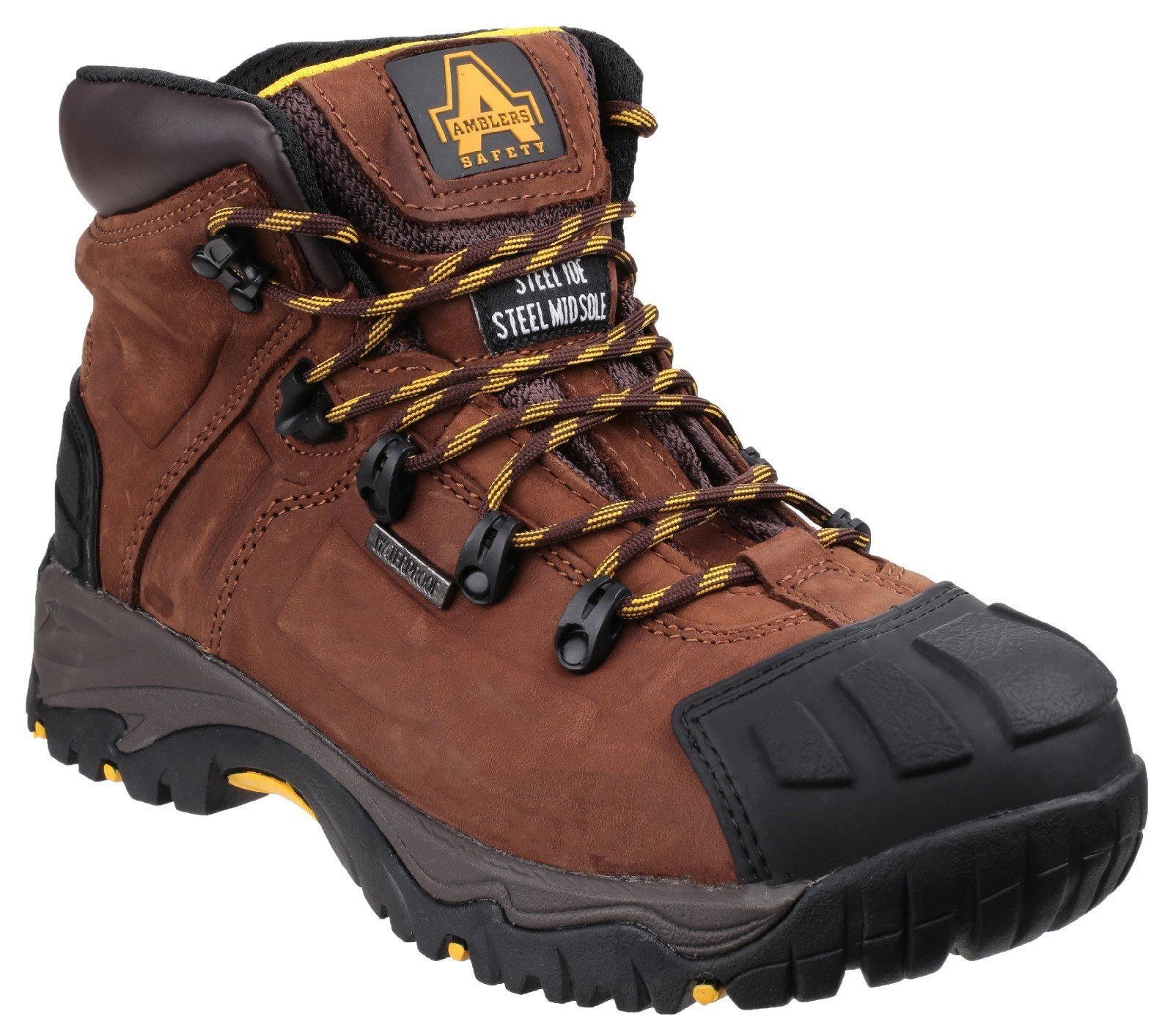 Amblers Unisex Safety Waterproof Lace up Boot Brown 19641 - Brown 6