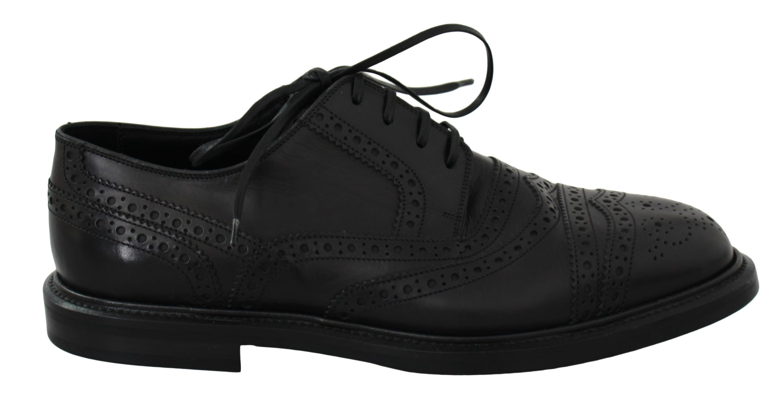 Dolce & Gabbana Men's Leather Dress Brogues Shoes Black MV2505 - EU40/US7