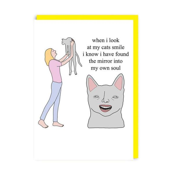 Cat's Smile Greeting Card