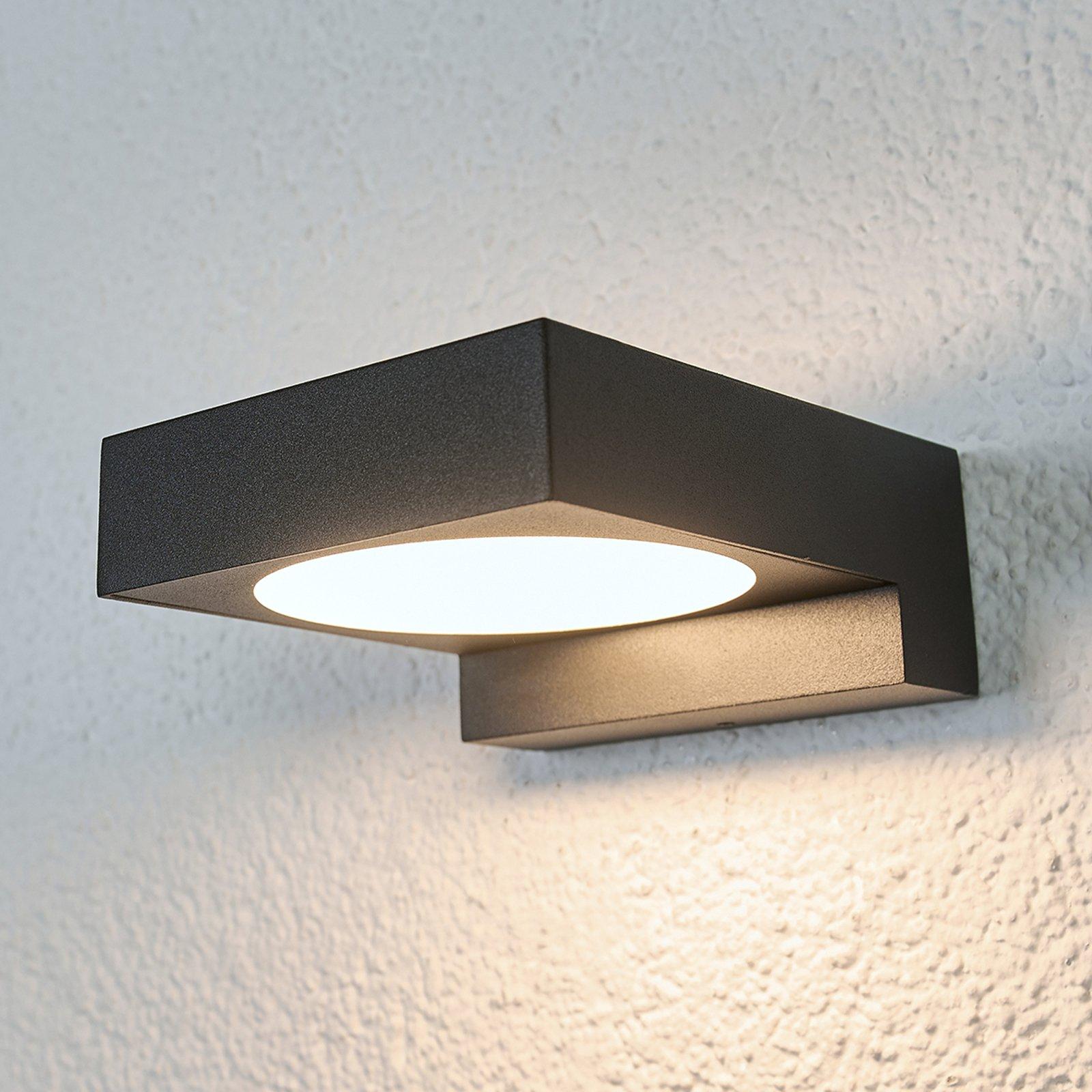 Svart LED-vegglampe til badet Natalja