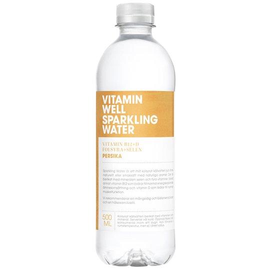"Dryck ""Sparkling Water Persika"" 500ml - 74% rabatt"