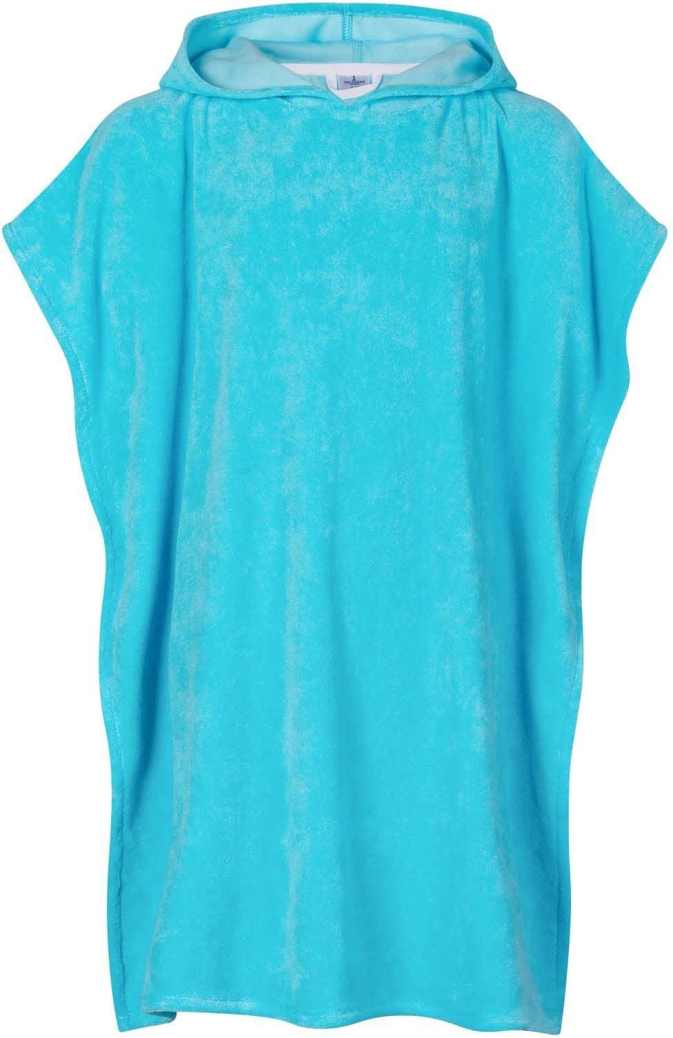Saltabad Apelviken Badponcho, Turquoise, 2-4 År