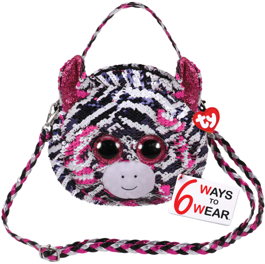 Ty Plush - Sequin Purse - Zoey the Zebra (TY95130)