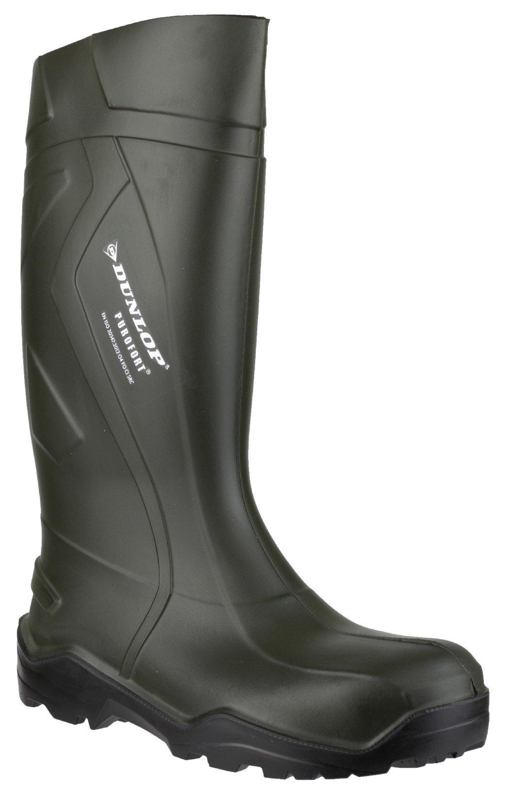 Dunlop Men's Purofort+ Wellington Boot Green 20225 - Green 6